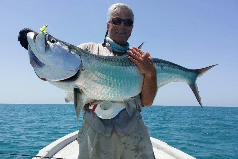 Voyage de p che la mouche et lancer en mer mexique - Peche du poisson chat au coup ...