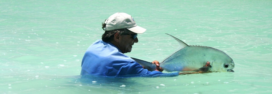 Pêche à la mouche du permit